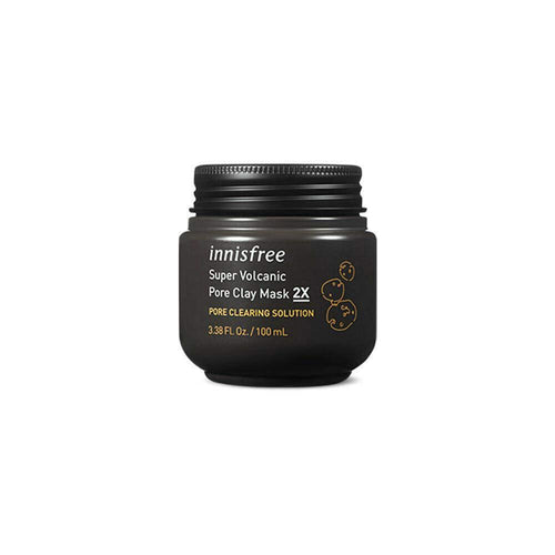 Innisfree Super Volcanic Pore Clay Mask 2X 100mL - BESTSKINWITHIN