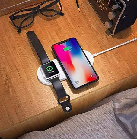 2 in 1 Wireless Charger for iPhone and Apple Watch