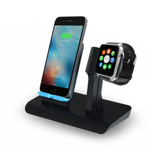 2 IN 1 Wireless Fast Charger Charging Pad Stand