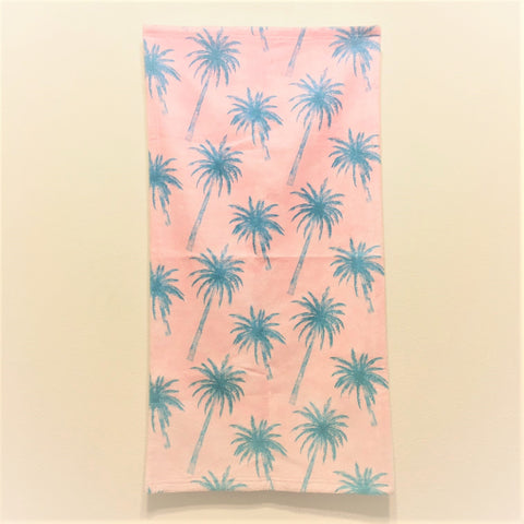 <即納品>フェイスタオル Palm Tree Pattern by Tracie Andrews 約76cm×約38cm