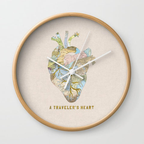 壁掛け時計 A Traveler's Heart by Bianca Green