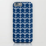 スマホケース Anchors Navy Blue by M Studio