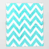 ブランケット aqua chevron by her art