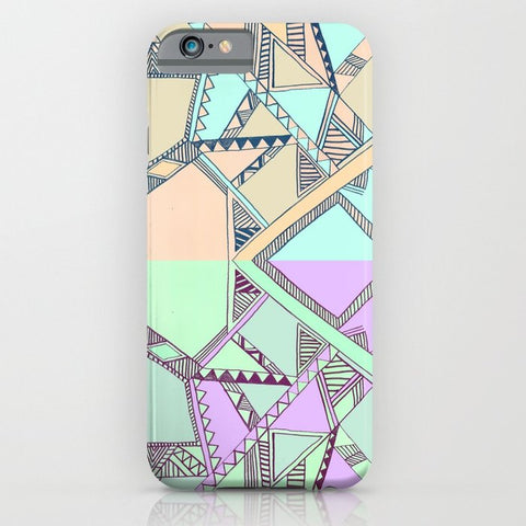 スマホケース Aztec print illustration by Vasare Nar