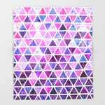 ブランケット Berry Purples - Triangle Patchwork Pattern by micklyn