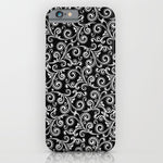 スマホケース black and white swirls by Sylvia Cook Photography