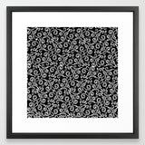 額入りアートプリント black and white swirls by Sylvia Cook Photography