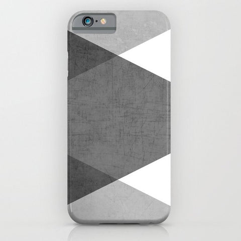 スマホケース black and white triangles by her art