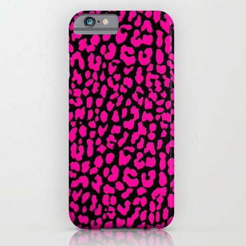 スマホケース Pink Black Leopard by M Studio