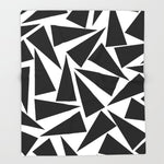 ブランケット black triangle pattern by Georgiana Paraschiv