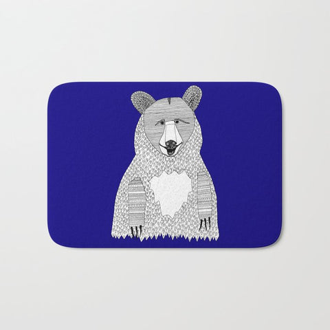 バスマット Blue Bear by Lush Tart