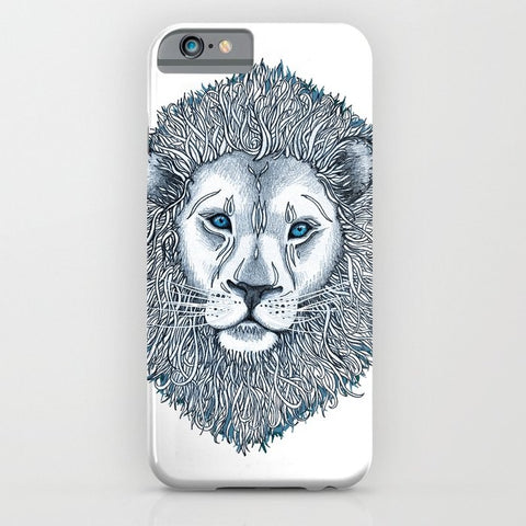 スマホケース Blue Eyed Lion by micklyn