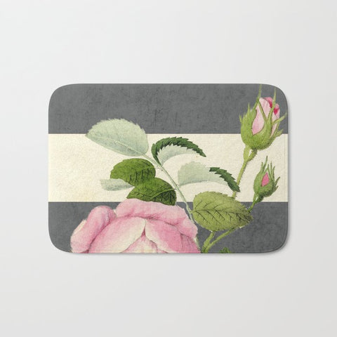 バスマット botanical stripes II gray by her art