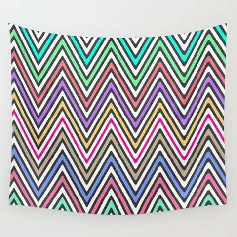 タペストリー Bright Ethnic Aztec Native Chevron Pattern by Girly Trend