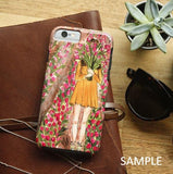 スマホケース Antique Rose pastel pink cream by micklyn