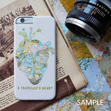 スマホケース wanderlust map by Sylvia Cook Photography