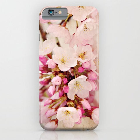 スマホケース cherry blossoms with typography by Sylvia Cook Photography