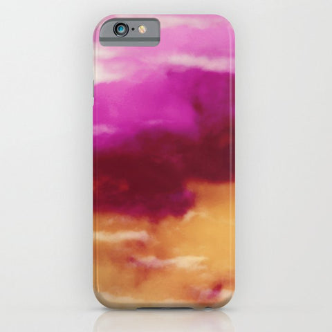 スマホケース Cherry Rose Painted Clouds by Caleb Troy