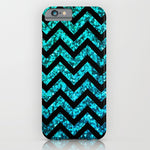 スマホケース Chevron Aqua Sparkle by M Studio