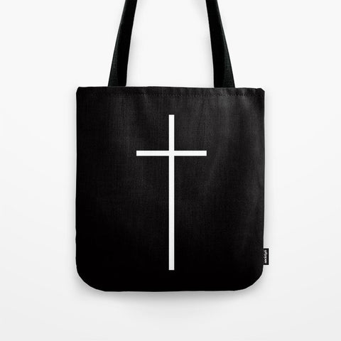 トートバッグ Christian Cross Black by RexLambo