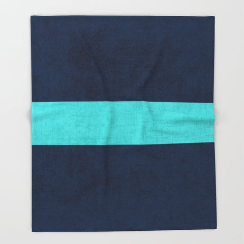 ブランケット classic - navy and aqua by her art