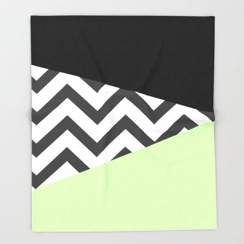 ブランケット Color Blocked Chevron 3 by Josrick