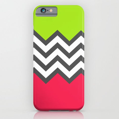スマホケース Color Blocked Chevron 5 by Josrick