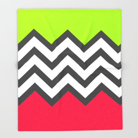 ブランケット Color Blocked Chevron 5 by Josrick