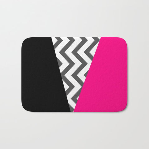 バスマット Color Blocked Chevron 8 by Josrick