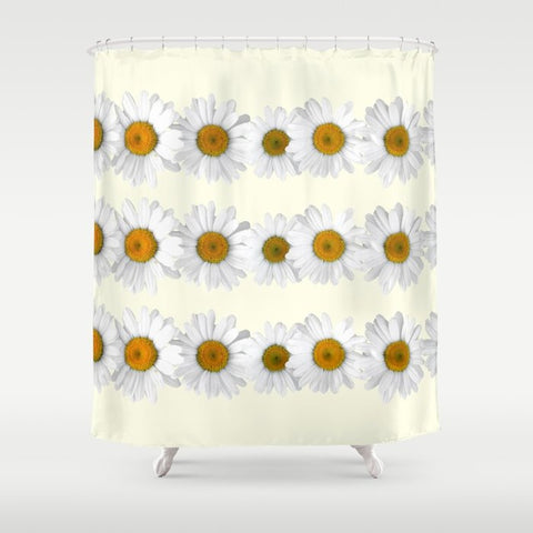 シャワーカーテン Daisy Chains on Pastel Yellow by Tangerine-Tane