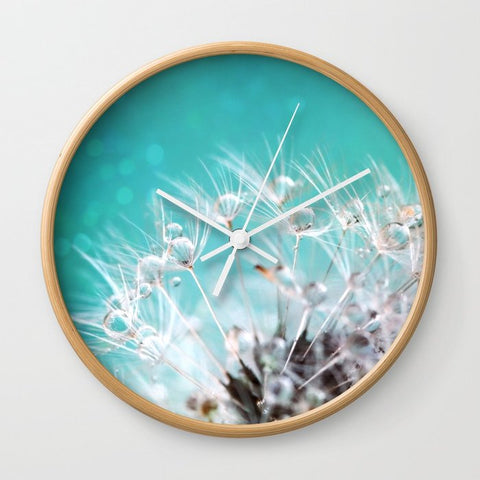 壁掛け時計 dandelion-two by Sylvia Cook Photography