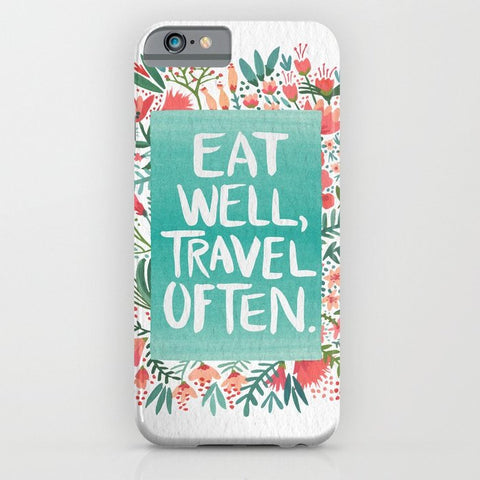 スマホケース Eat Well, Travel Often Bouquet by Cat Coquillette
