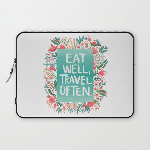 パソコンケース Eat Well, Travel Often Bouquet by Cat Coquillette