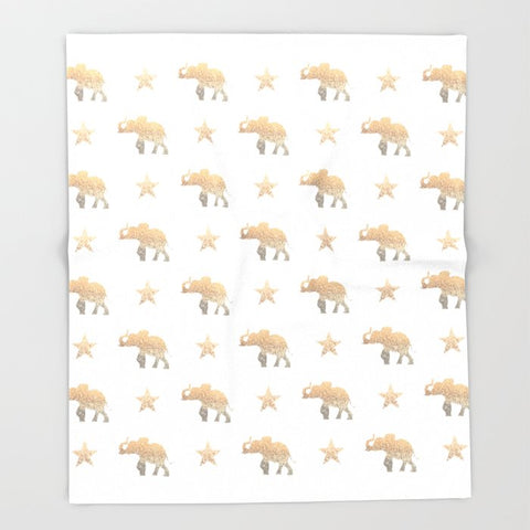 ブランケット ELEPHANT & STARS by Monika Strigel