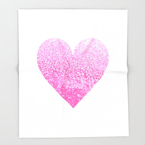 ブランケット PINK HEART by Monika Strigel