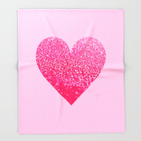 ブランケット PINK PINK HEART by Monika Strigel