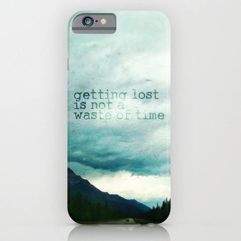 スマホケース getting lost is not a waste of time by Sylvia Cook