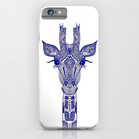 スマホケース GIRAFFE BLUE by Monika Strigel