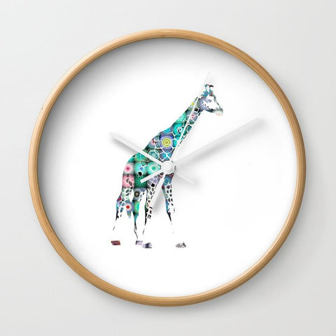 壁掛け時計 Giraffe  by Monika Strigel