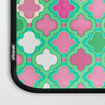 パソコンケース Girly Moroccan Pink Mint Emerald Green White by micklyn