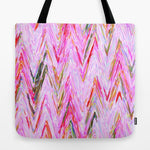 トートバッグ Girly Pink Abstract Chevron Geometrical Pattern by Girly Trend