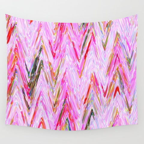 タペストリー Girly Pink Abstract Chevron Geometrical Pattern by Girly Trend