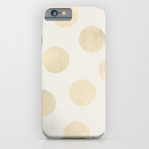 スマホケース Gold Polka Dots by Georgiana Paraschiv