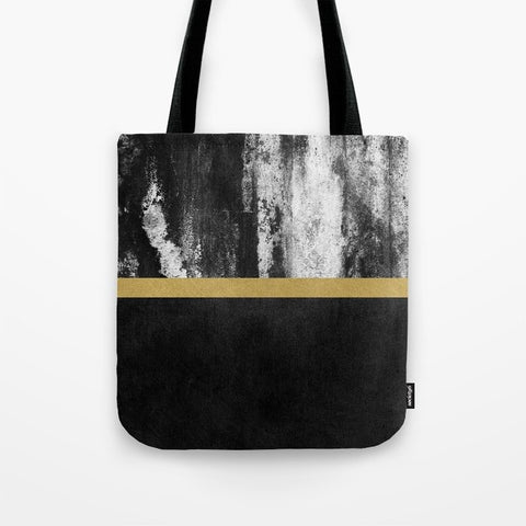 トートバッグ Golden Line / Black by Elisabeth Fredriksson