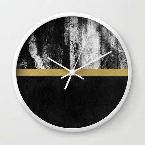 壁掛け時計 Golden Line / Black by Elisabeth Fredriksson