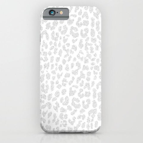 スマホケース Pale Gray Leopard by M Studio