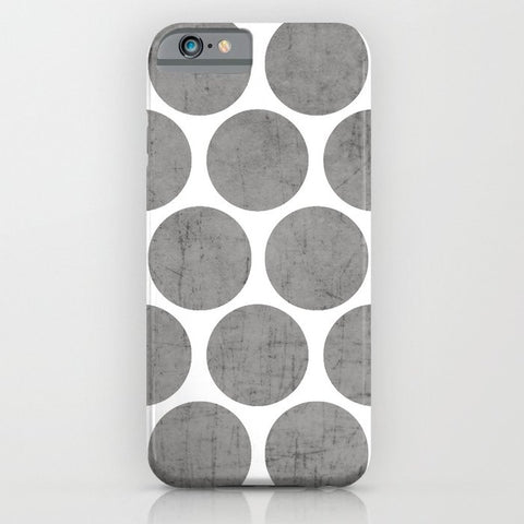 スマホケース gray polka dots by her art