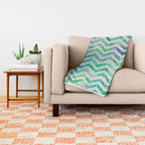 ブランケット GREEN FLORAL CHEVRON by Bianca Green