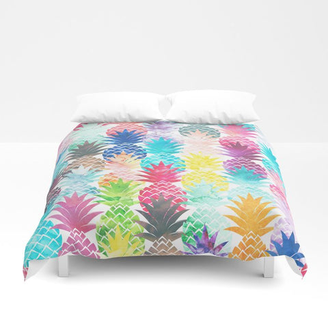 掛け布団カバー Hawaiian Pineapple Pattern Tropical Watercolor by Girly Trend