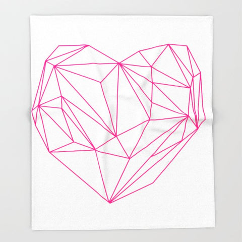 ブランケット Heart Graphic Neon Version by Mareike Böhmer Graphics